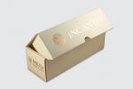 Кутия за вино от микровелпапе със ситопечат - pantone злато.