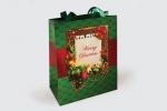 Хартиена торбичка с дръжки, пълноцветен печат и ламинат мат.