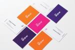 Визитни картички с размер 90х50 мм, пълноцветен двустранен печат и ламинат гланц.