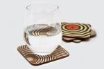 Подложка за чаша с квадратна форма и заоблени ъгли, пълноцветен двустранен печат.