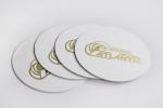 Подложка за чаша с кръгла форма и ситопечат - злато.