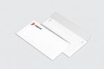 Пощенски плик DL бяла хартия, едностранен пълноцветен печат.