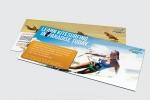 Листовки, формат DL с двустранен пълноцветен печат отпечатани върху хромова хартия.