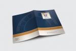 Папка с джоб, опаковъчен картон с бял гръб, пълноцветен едностранен печат и ламинат мат.