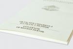 Папка с джоб с обем, опаковъчен картон с бял гръб, пълноцветен едностранен печат и ламинат мат.
