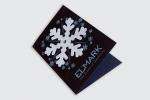 Поздравителна картичка с една гънка и подвижен елемент закрепен с нит.