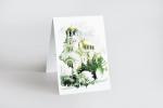 Поздравителна картичка една гънка с пълноцветен двустранен печат.
