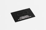 Визитна картичка, изработена с технология multilevel, комбинирана със ситопечат.