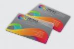 Визитна картичка, отпечатана върху PVC, пълноцветен едностранен печат.