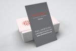Визитни картички с размер 90х50 мм, пълноцветен двустранен печат.