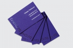 Визитни картички с двустранен едноцветен печат и изрязвяне с лазер.