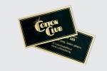 Визитна картичка отпечатани с мастило с ефект злато.