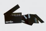 Визитки с каширан картон и подвижна част закрепена с нит, двустранен печат.