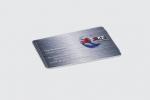 Визитна картичка, отпечатана върху PVC, пълноцветен двустранен печат.