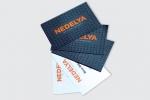 Визитни картички с двустранен релефен лак и двустранен печат.