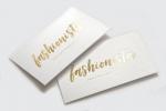 Визитни картички с топъл печат, златно фолио.