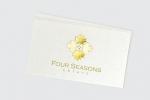 Визитни картички с багрилен и топъл печат – златно фолио.