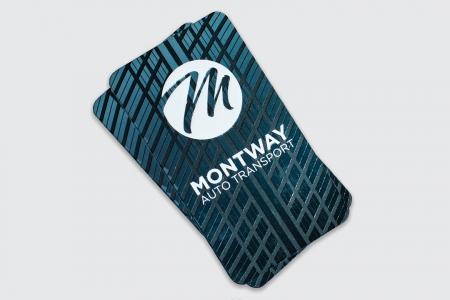 Визитни картички с релефен лак и двустранен печат.